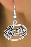 Earrings: Music Notes