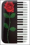 Metal Magnet: Keyboard With Rose