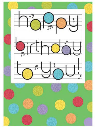 Card: Birthday Notes
