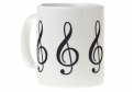 Mug: Treble Clef (White)