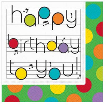 Napkin: Birthday Notes