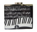 Coin Purse: Keyboard Melody Black