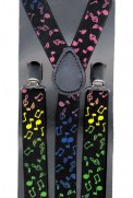 Suspenders: Colorful Musical Notes