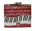 Coin Purse: Keyboard Melody Red