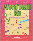 Word Wall Kit Musical Terms Flash Cards
