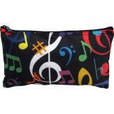 Zipper Pouch: Colorful Notes/Clefs