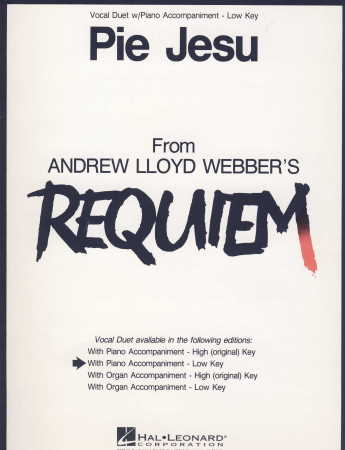 Pie Jesu From Requiem (Low W/Pno)