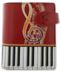 Wallet: Keyboard Melody Red (Small)