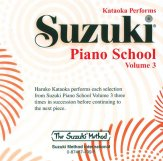 Suzuki Piano School 3 CD Kataoka