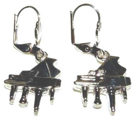 Earrings: Silver Piano