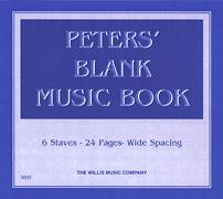 Peters' Blank Music Book
