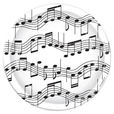 Plates: Musical Note 9' (8 Per Package)