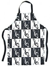 Apron: Treble Clefs With Notes