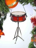 Ornament: Snare Drum (Red)