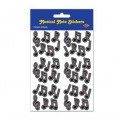 Stickers: Musical Notes Black
