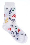 Socks: Multi Notes (White)