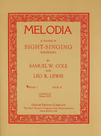 Melodia A Course In Sight-Singing Bk 1