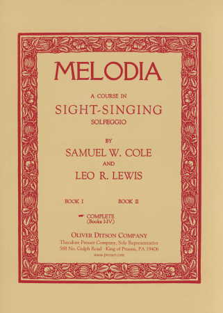Melodia Course In Sight-Singing Complete