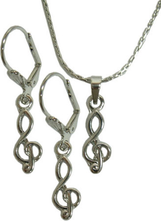 Fashion Jewelry Set (G Clef)