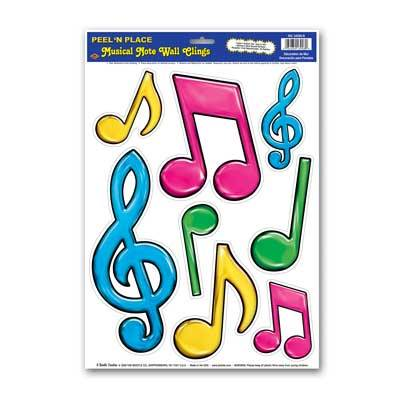 Musical Notes Peel and Place Multi-Color