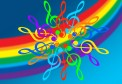 Boxed Note Cards: Treble Clefs/Rainbow