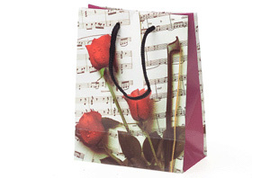 Giftbag: Sheet Music & Rose Small