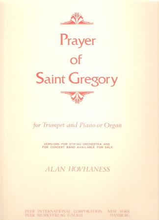 PRAYER OF SAINT GREGORY (W/ORGAN)