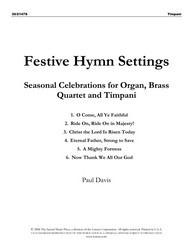 FESTIVE HYMN SETTINGS-BRASS/TIMP SET/PTS