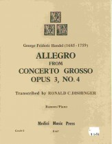 Allegro From Concerto Grosso Op 3 #4