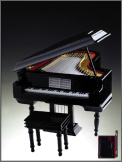 Music Box: Grand Piano Black (Small)