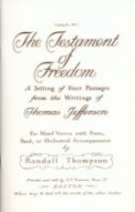 Testament of Freedom, The