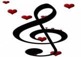 Boxed Note Cards: Treble Clef Hearts