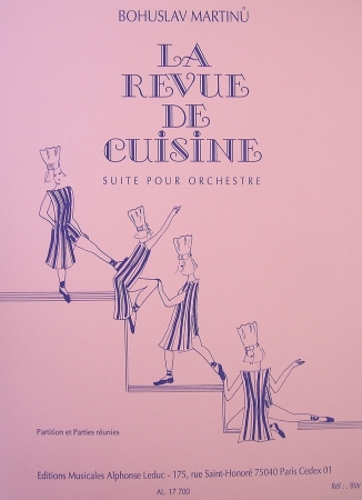 La revue de cuisine sheet music by bohuslav martinu sku for Revue de cuisine