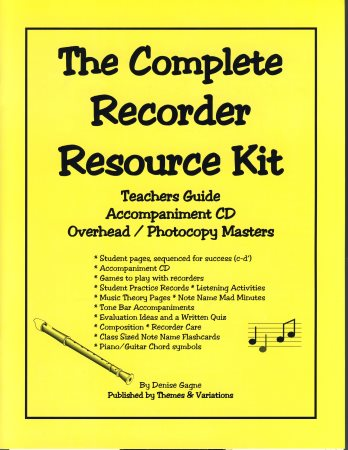 RECORDER RESOURCE KIT, THE
