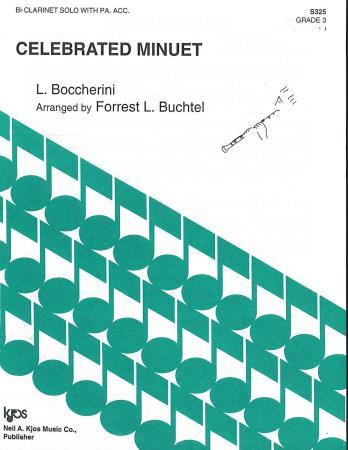 Celebrated Minuet Sheet Music by Forrest L Buchtel (SKU: S325) - Stanton's  Sheet Music