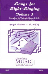 Songs For Sight-Singing Vol 3 Hs SATB