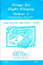 Songs For Sight-Singing Vol 3 Hs/Jhs SAB