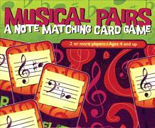 Musical Pairs Note Matching Card Game