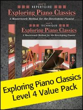 Exploring piano classics lv 4 value pack sheet music by for Piano house classics