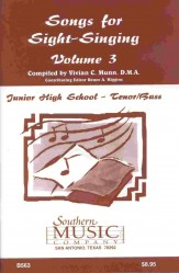 Songs For Sight-Singing Vol 3 Jhs Ten/Ba
