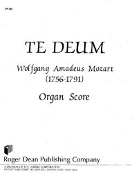 Te Deum - Organ Score