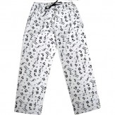 Pajama Bottoms: Music Notes Flannel