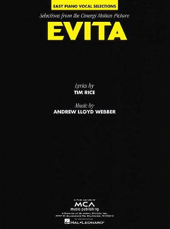 evita the movie sheet music by madonna sku 00120107