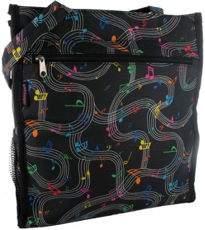 Tote: Black With Music Print