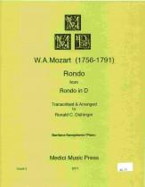 ロンド(ロンドニ長調より)(モーツァルト)(バリトンサックス+ピアノ)【Rondo from Rondo in D】
