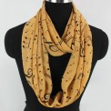 Scarf: Infinity Music Print (Yellow)
