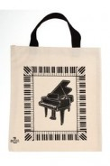 Tote: Grand Piano W/Keyboard (Black)