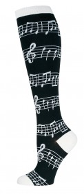 Socks: Knee High Music (Black)