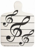Chopping Board: Black Music Notes