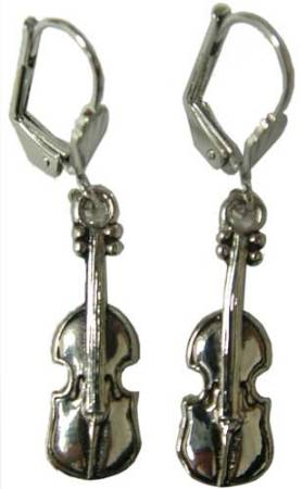 Earrings: Silver Violin